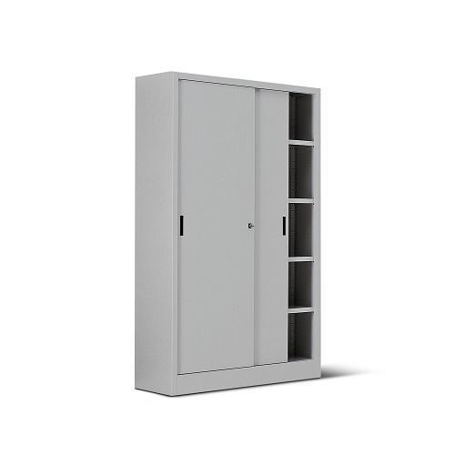 Armadio Metallico Con Porta Scorrevole In Lamiera 4 8 Ripiani 120x60x200h